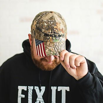 CWF305 - Shoup Camo Hat With Flag