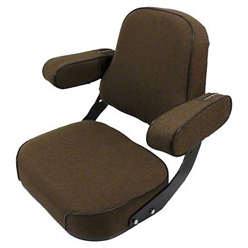 Deluxe Seat, Brown Fabric
