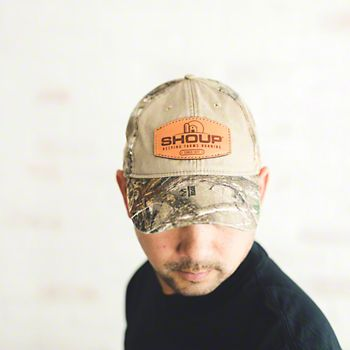 Shoup Camo Hat With Leather Patch